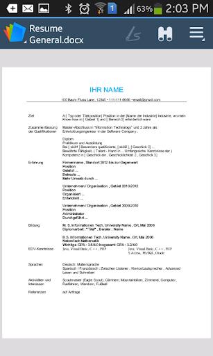 【免費商業App】Lebenslauf / CV  - Deutsch-APP點子