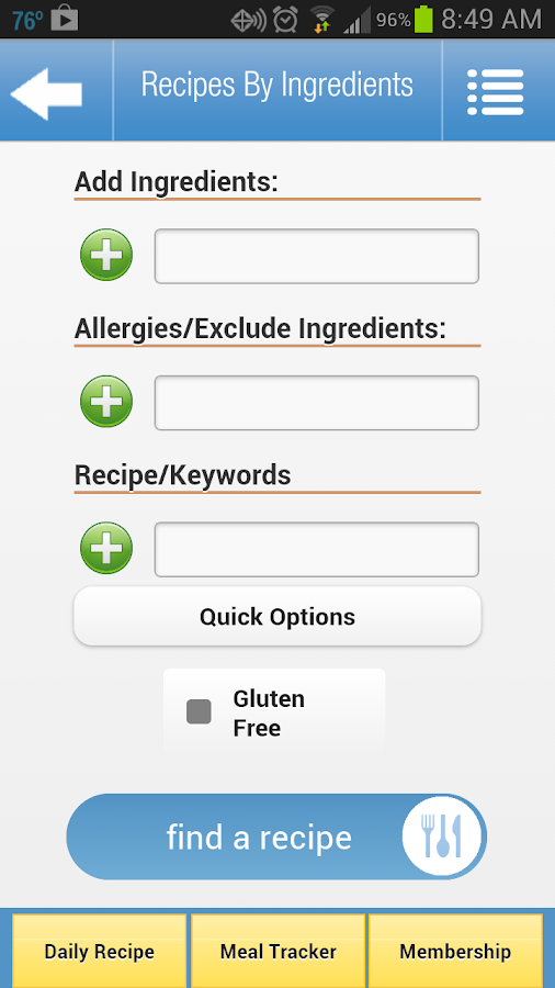 Recipes by Ingredients - screenshot
