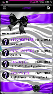 Zebra Passion GO SMS Pro Theme - screenshot thumbnail