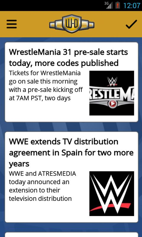 Wrestling-Online.com News Free- screenshot