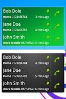 Screenshot of Call + SMS Log Widget