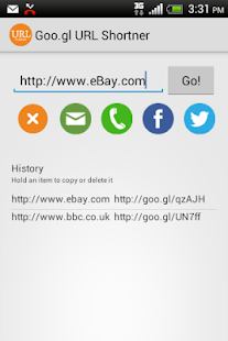 Goo.gl URL Shortener + - screenshot thumbnail