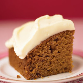 Pumpkin Spice Cake with Honey Frosting.