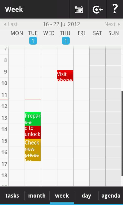 Rabotan ToDo Calendar- screenshot