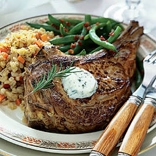 Veal Chops with Rosemary Butter.