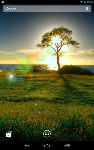 陽光彩虹動態桌布