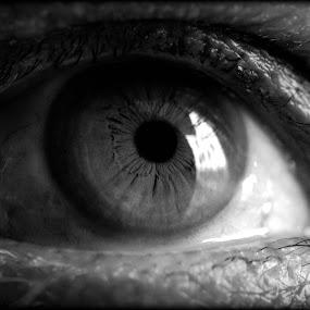 eye which tells everything by Payal Das - Black & White Macro (  )