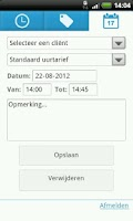 Screenshot of Factuurdesk Urenregistratie