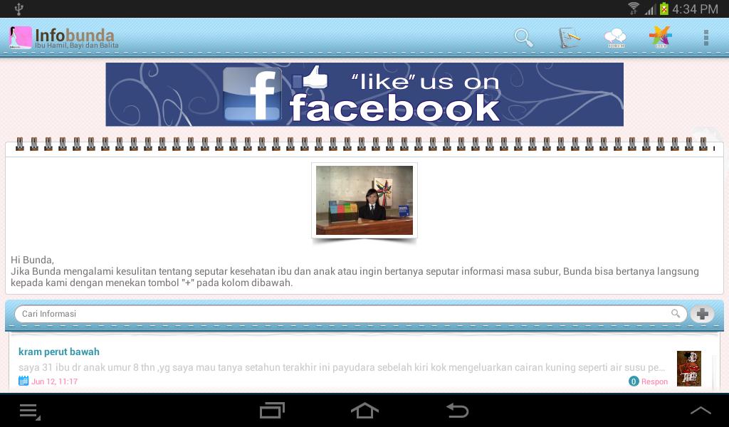 Infobunda (ibu hamil, bayi) - screenshot