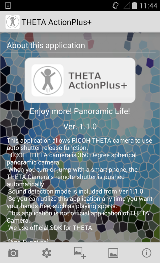 THETA ActionPlus+ - screenshot