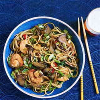 Mushroom and Shrimp Noodle Bowls