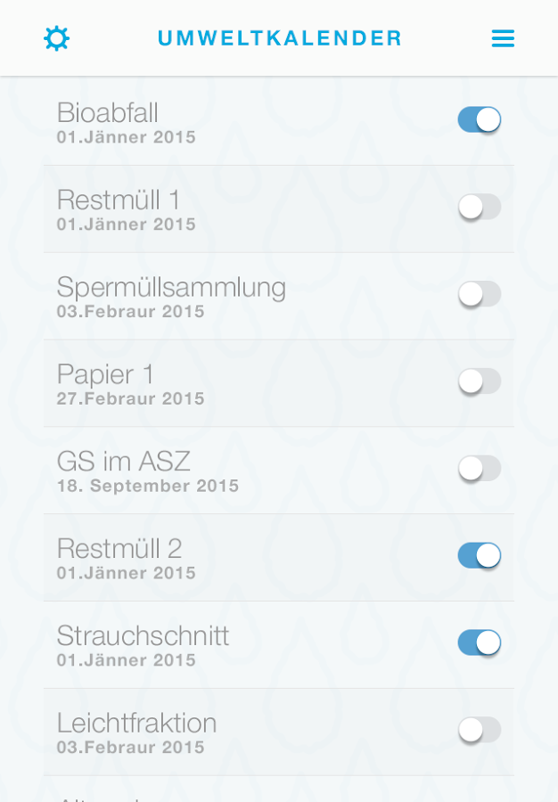 WasserApp- screenshot
