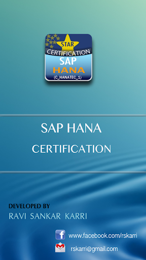 SAP HANA CERTIFICATION