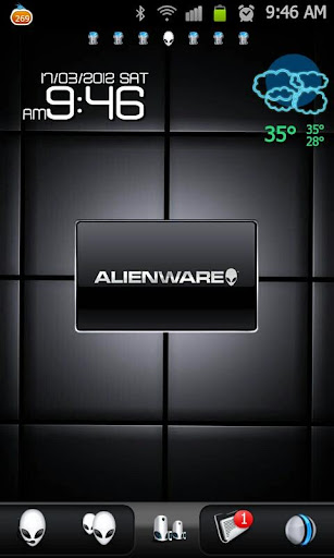 Provides two ways to download Alienware Morph Go Launcher Android App