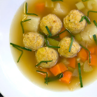 Einat Admony'S Chicken Soup with Gondi (Iranian Chicken and Chickpea Dumplings) Recipe