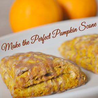 Spice Glazed Pumpkin Scones.