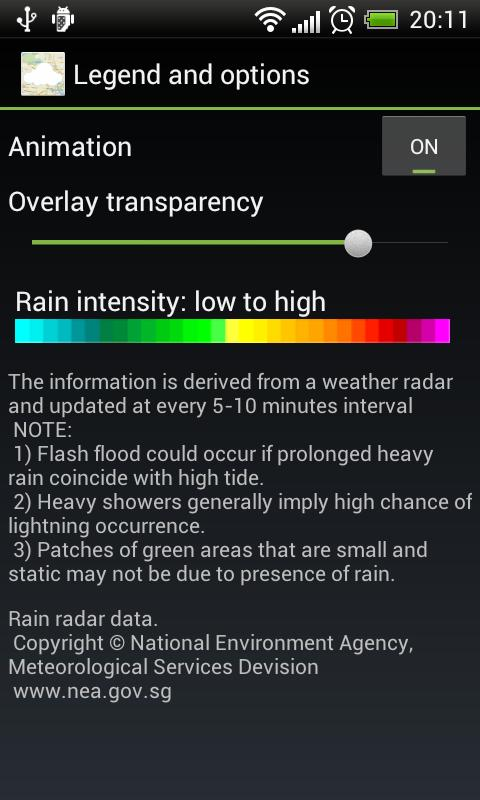 Rain Map Singapore - screenshot
