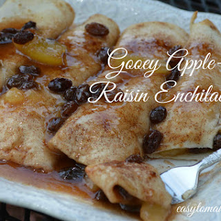 Gooey Apple-Raisin Enchiladas