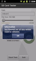 Screenshot of SD Card Tester