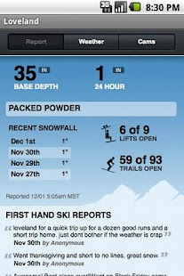 Ski & Snow Report - screenshot thumbnail