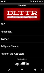 DELETE TWEETS: DLTTR - screenshot thumbnail