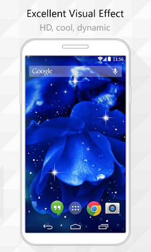 Blue Flowers Live Wallpaper
