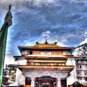 Awesome Temple in Manali market by Saurabh Gaikwad - Buildings & Architecture Public & Historical ( temple, hdriphoneographer, ice, manali, himachalpradesh )