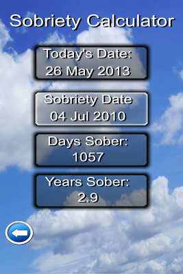 Sober Day Recovery App - screenshot