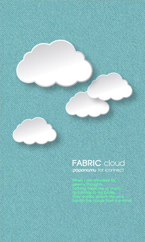 Fabric Cloud go launcher theme - screenshot