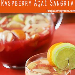 Skinny Non-Alcoholic Raspberry Açaí Sangria.
