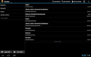 Screenshot of Spot Search