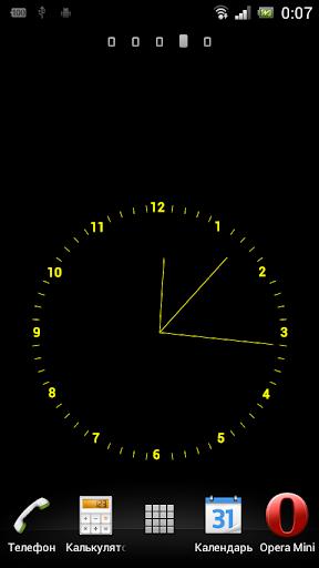 часы живые обои