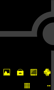Minimalist_Yellow - ADW Theme - screenshot thumbnail