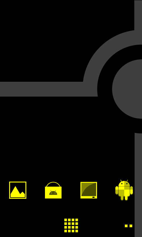 Minimalist_Yellow - ADW Theme - screenshot