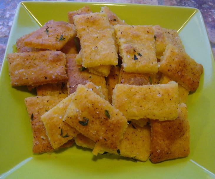 Fleur De Sel and Thyme Crackers Recipe