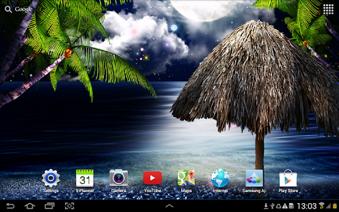 Tropical Night Live Wallpaper
