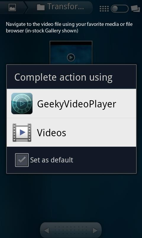 Geeky Video Player Free - screenshot