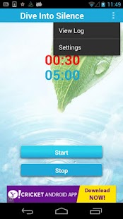 Dive Into Silence Timer Lite - screenshot thumbnail