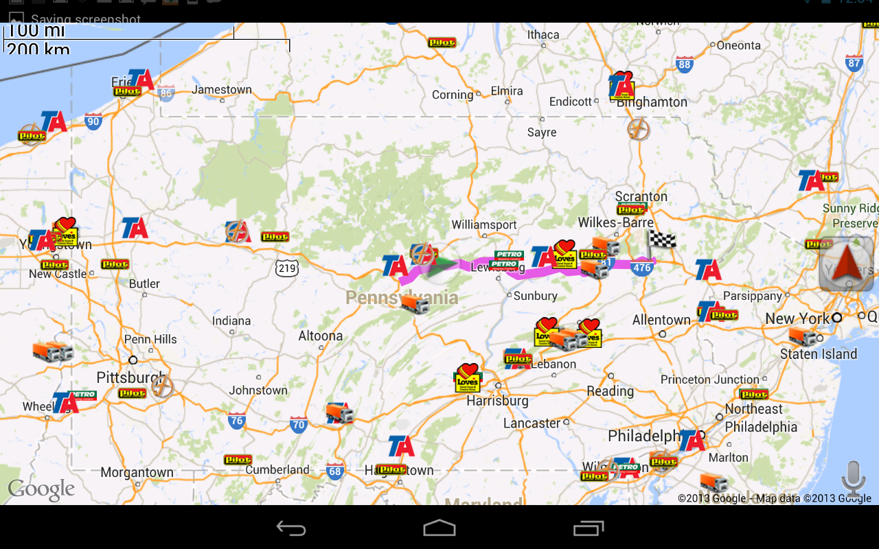Truck GPS Route Navigation - screenshot
