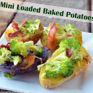 Kids Mini Loaded Baked Potatoes.
