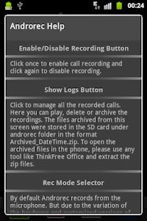 AndroRec Free Call Recorder - screenshot thumbnail