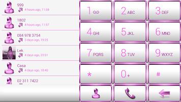 Screenshot of Dialer Frame Pink White Skin