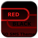 GO SMS Theme Dark Red Black icon