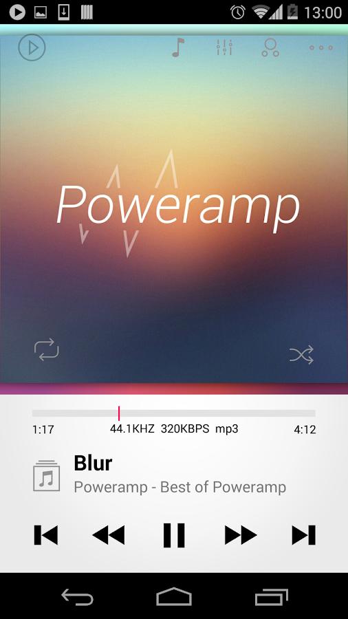 Poweramp skin 2in1- screenshot