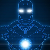 Blue Iron Man Uccw Skin Widget