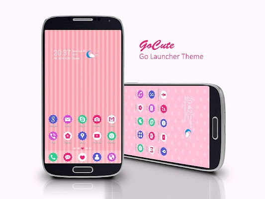 GoCute Free Go Launcher Theme - screenshot