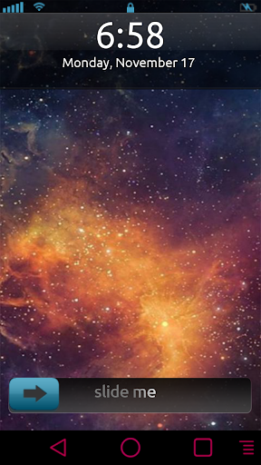 Galaxy Moving Star LockerTheme