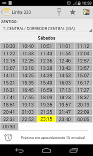 Public Bus Timetable Campinas- screenshot thumbnail