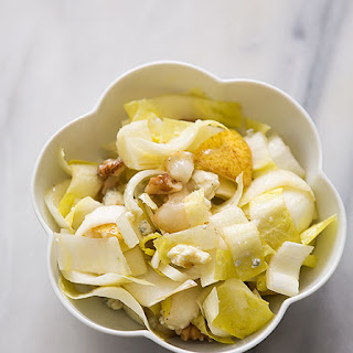 Endive Salad with Walnuts, Pears, and Gorgonzola.