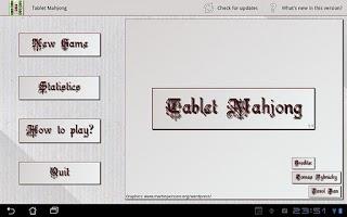 Screenshot of Tablet Mahjong
